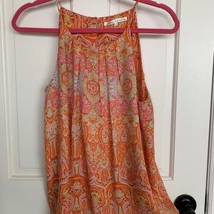 Darling Violet + Claire Sleeveless Paisley Top